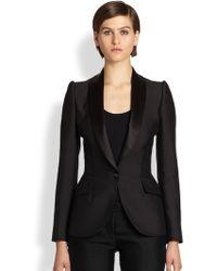 Alexander McQueen Wool Tuxedo Jacket black - Lyst