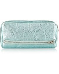 Alexander Wang Fumo Metallic Textured-leather Continental Wallet - Lyst
