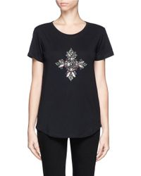 Emilio Pucci Jewel and Bead Cotton Tshirt - Lyst