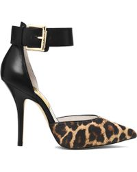 Michael Kors Brinkley Leopard Hair Calf Ankle-strap Pump - Lyst