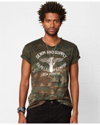 Denim & Supply Ralph Lauren Green Camo-print T-shirt - Lyst