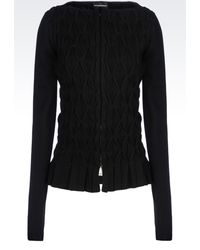 Emporio Armani Knit Jacket - Lyst
