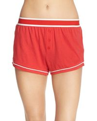 64e1b4a6e0e6 MINKPINK - Embroidered Cotton Sleep Shorts - Lyst