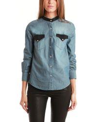 IRO Bromley Shirt blue - Lyst
