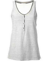 Forte Forte Striped Vest Top - Lyst