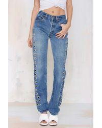 Nasty Gal After Party Vintage Rebel Rebel Jeans - Lyst