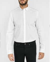 DIESEL | White Nap Small Collar Slim-fit Shirt | Lyst