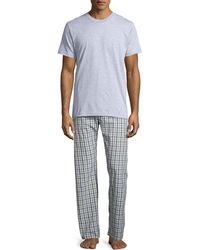 Neiman Marcus - Men's Two-piece Boxed Pajama Set W/ Flannel Pants - Lyst