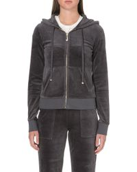Juicy Couture Bling Zip Hoody - Lyst