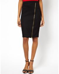 Lipsy Zip Up Pencil Skirt - Lyst