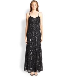 Needle & Thread Open-Back Beaded Gown - Lyst