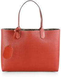 Gucci Reversible Gg Leather Tote - Lyst