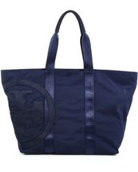 Tory Burch Penn Nylon Logo Tote blue - Lyst