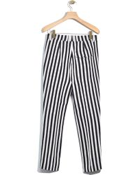 3.1 Phillip Lim | Striped Tapered Pleated Trouser | Lyst