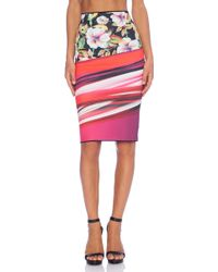 Clover Canyon Botanical Wave Reversible Skirt - Lyst