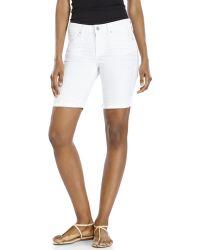 Jessica Simpson White Cuffed Bermuda Shorts - Lyst