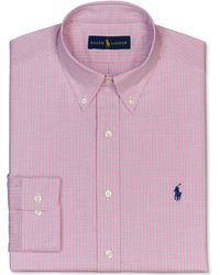 Ralph Lauren Polo Pink Check Dress Shirt - Lyst
