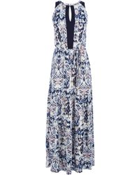 Oasis Boho Print Maxi Dress blue - Lyst