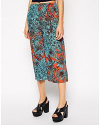 Asos Culotte Pant in Floral Print - Lyst