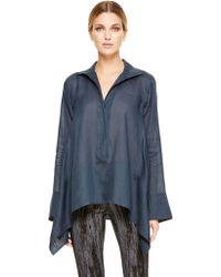 Donna Karan New York Long Sleeve Tunic Top - Lyst