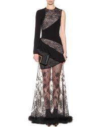 Alessandra Rich Cotton And Lace Dress transparent - Lyst