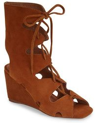 Jeffrey Campbell Women'S 'Romilly' Suede Gladiator Sandal - Lyst