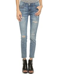 Current/Elliott The Stiletto Jeans - Super Loved Destroy W/ Paint - Lyst