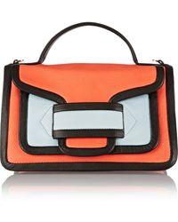 Pierre Hardy Color-Block Leather Satchel - Lyst