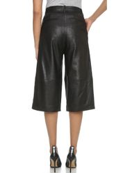 Just Female - Nelson Leather Shorts - Black - Lyst