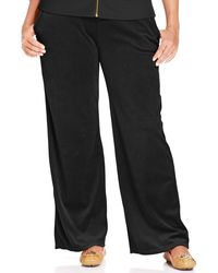Michael Kors Michael Plus Size Pull-On Velour Pants - Lyst