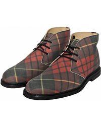 Comme des Garçons - The Generic Man Tartan Desert Boots Red - Lyst