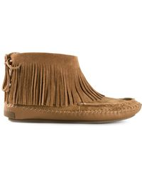 Tory Burch Brown Collins Slippers - Lyst
