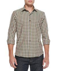 Culturata Gingham-Check Woven Shirt - Lyst