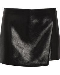 Narciso Rodriguez Glossedwool Shorts - Lyst