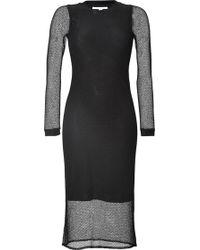 Jonathan Simkhai Long Sleeve Mesh Midi-Dress - Lyst