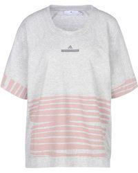 Adidas By Stella McCartney | Grey Zebra Essentials T-shirt | Lyst