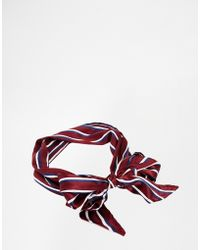 Asos Headscarf in Stripe - Lyst
