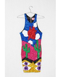 Nasty Gal Dicount Trah Heart Sequin Dress - Lyst