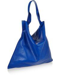 Jil Sander Textured-leather Shoulder Bag - Lyst