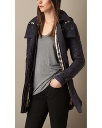 Burberry Diamond Quilted Coat - Lyst