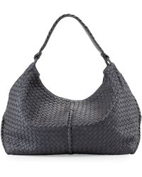 Bottega Veneta Cervo Large Metallic Shoulder Bag - Lyst