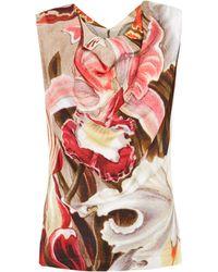 Vivienne Westwood Red Label Multicolour Floral Drape Front Top - Lyst