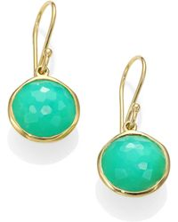 Ippolita Lollipop Chrysoprase 18k Yellow Gold Mini Drop Earrings - Lyst