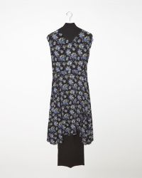 Vetements Floral Combo Dress black - Lyst