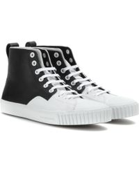 Balenciaga Leather High-Top Sneakers - Lyst