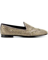 Gucci Embellished Satin Slippers - Lyst