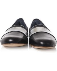 Balmain - Metallic-panel Soft Leather Loafers - Lyst