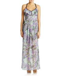 Jessica Simpson Floral Print Maxi Dress - Lyst