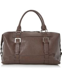 Dune - Philip Buckle Strap Detail Holdall - Lyst