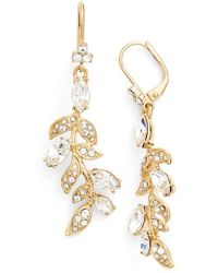 Marchesa | 'leaf' Drop Earrings | Lyst
